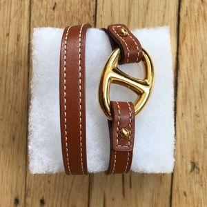 Hermès leather wrap bracelet